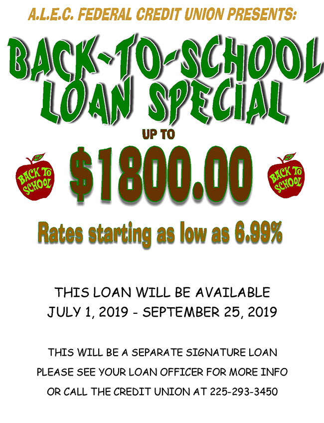 Back To School Loan Special